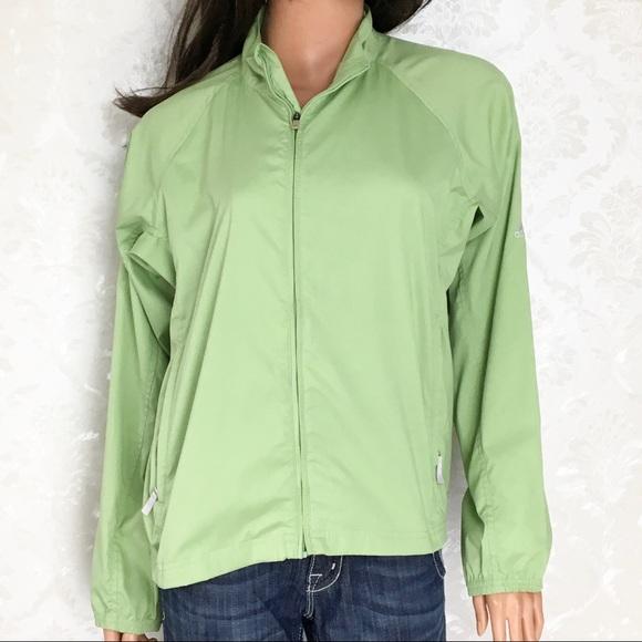 adidas Jackets & Blazers - Adidas Soft Lime Front Zip Rain Jacket